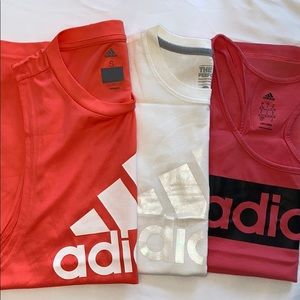 Three Adidas Fitness TankTops (All S)
